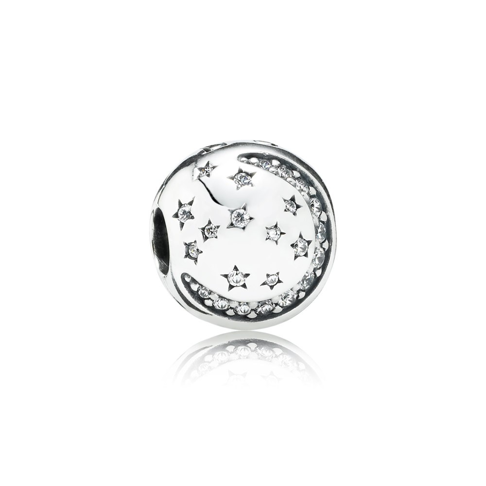 Pandora Twinkling Night, Clear Cz